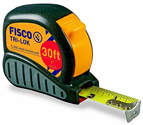Fisco Tools TL30E Tape Measure, 1-Inch Wide by 30-Feet Long