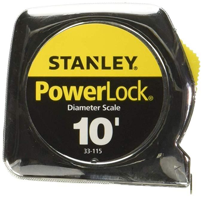Stanley Tools 33-115 6 Pack 10ft. Powerlock Pocket Tape Rule With Diameter Scale