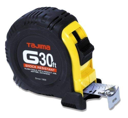 Tajima G-30BW 30-Feet Easy-to-Read Standard Scale Tape Measure by Tajima