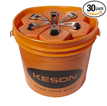 Keson P100BKT Chalk Line Reel, 1.5mm String, 2-4-Ounce Capacity, 100-Foot (30-Pack)