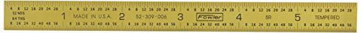Fowler 52-309-006 Flexible Golden Steel Rule, 6