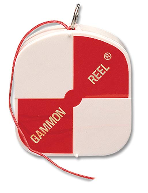 Gammon Reel 12' White & Orange Flo Red for Plumb Bob, surveying, retractable String 11-729