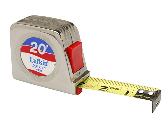 Lufkin Y420 1-Inch x 20-Foot Chrome Power Return Tape