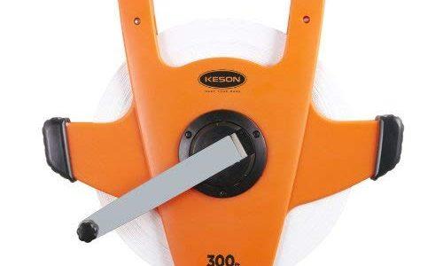 Keson NRS18300 Nylon-Reinforced Steel Blade Tape Measure, Speed Rewind (Graduations: ft., in. 1/8), 300-Foot Review