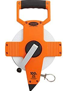 Keson NR10100H Nylon Coated Steel Blade Measuring Tape with Zero Point at Tape End and Hook End (Graduations: 1/10, 1/100), 100-Foot Review