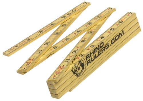 Rhino Rulers Folding Engineer's Ruler 6' Length (10ths and Inches) - 55125