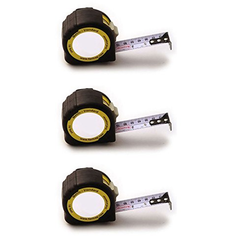 FastCap PMS-25 ProCarpenter 25' Metric/Standard Measuring Tapes, 3-Pack