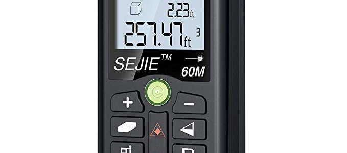 DinoFire Laser Measure 196Ft M/In/Ft Digital Laser Distance Meter Backlit LCD, Pythagorean, Distance, Area and Volume Measure Laser Measuring Tool – Carry Pouch Included Review