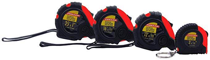 Fuller Tool 751-1003 Tape Measure Set (4 Piece)