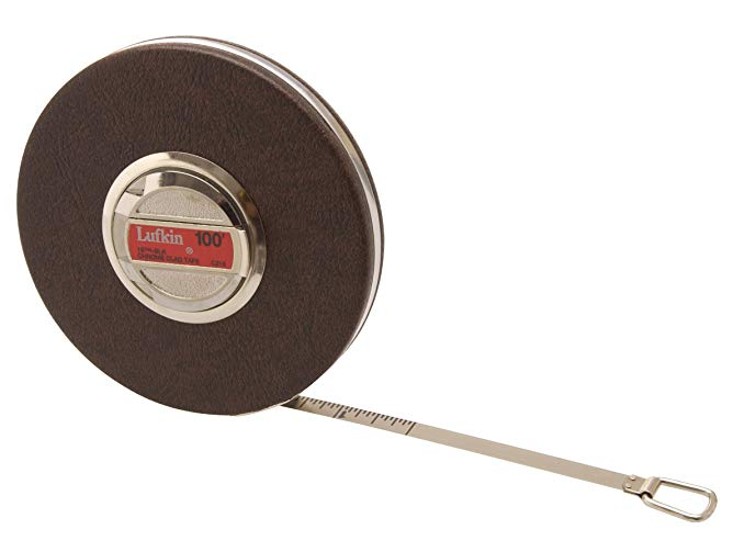 Lufkin C21616THBLK 3/8-Inch by 100-Foot Anchor Chrome Clad Tape