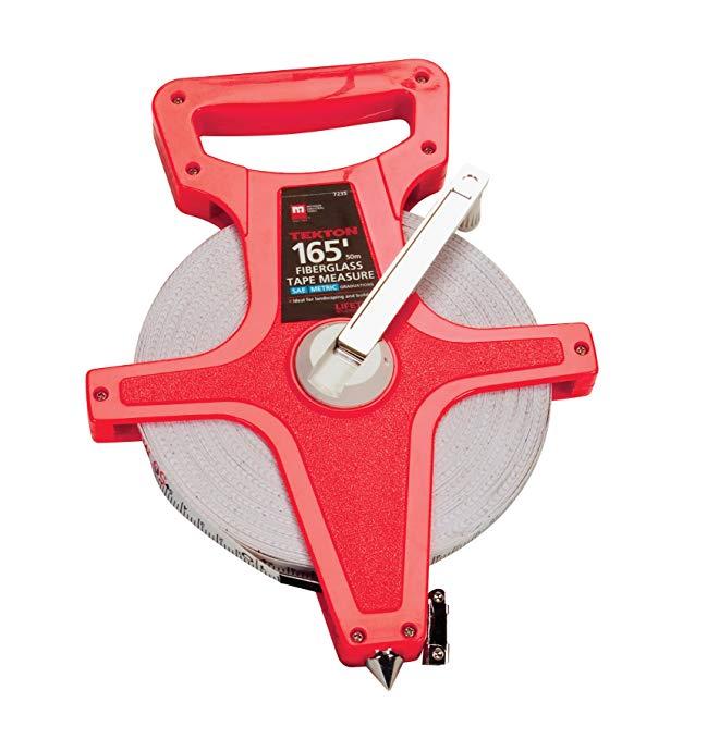 TEKTON 7235 165-Foot Fiberglass Tape Measure