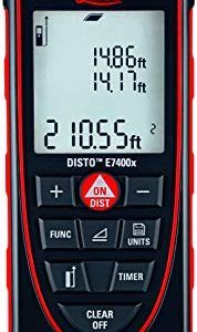 Leica DISTO E7400x 265ft Laser Distance Meter, Red/Black Review