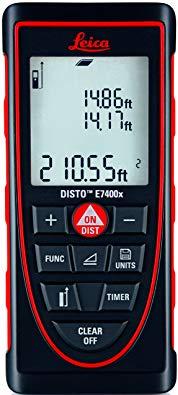 Leica DISTO E7400x 265ft Laser Distance Meter, Red/Black