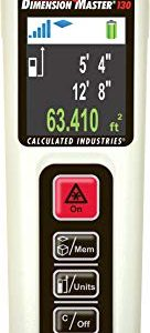 Calculated Industries 3356 Laser Dimension Master 130 Compact Digital Distance Measurer with 130-foot Range and Bright Color Display for Real Estate and Interior Design Pros Review